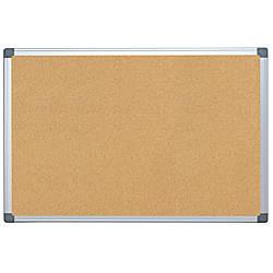FORAY Aluminum Framed Cork Bulletin Board