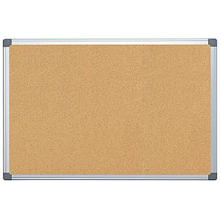 Foray Aluminum Framed Cork Bulletin Board 24 X 36 Office Depot