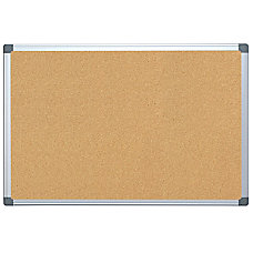 Delightful FORAY Aluminum Framed Cork Bulletin Board