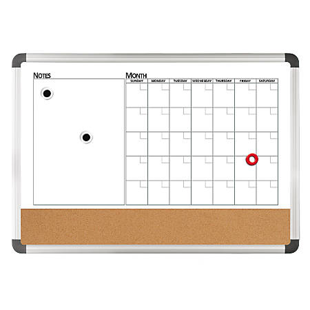 Foray 3 In 1 Monthly Plannercorkmagnetic Dry Erase Board 24 X 36