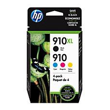 HP 910XL Black And 910 CyanMagentaYellow