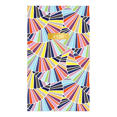 """Blue Sky™ Trina Turk Coppelia Shorts Monthly Stapled Planner, 3-5/8"""" x 6-1/8"""", Multicolor, January To December 2020, 117497"""