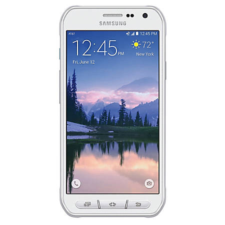 Samsung Galaxy S6 Active G890A Certified Refurbished Cell Phone For AT&T/Unlocked, White, PSC100041