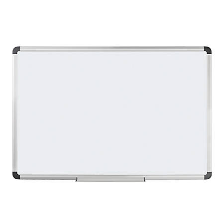 "FORAY™ Magnetic Dry-Erase Boards With Aluminum Frame, 48"" x 72"", White Board, Silver Frame"