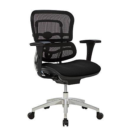 WorkPro® 12000 Series Ergonomic Mid-Back Mesh/Fabric Chair, Black