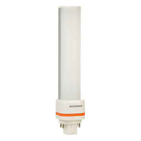 "Sylvania 6.61"" GX24Q Horizontal LED Tube Lights, 900 Lumens, 9 Watt, 2700K/Soft White, Replaces CF26 DD/E Fluorescent Tubes,Case of 24"