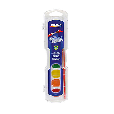 Prang® Washable Watercolors 8-Color Set With Brush, Assorted Colors