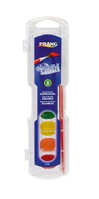 80525 Prang Washable Watercolor Set Includes Brush 8 Assorted Colors