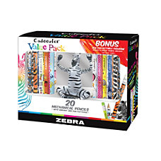 Zebra Cadoozles Mechanical Pencils With ZEN