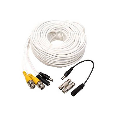 Q-See - QS100B -100ft BNC Cable w/ BNC Connectors - 100ft Cable - BNC - 12V - 1.5A