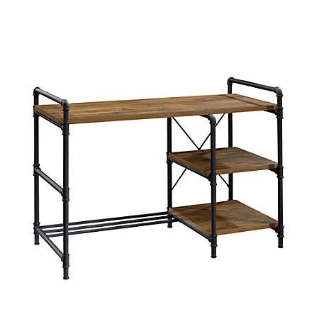 "Sauder® Iron City 48""W Computer Desk, Checked Oak"