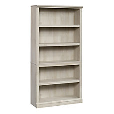 Sauder Select Bookcase 5 Shelf Chalked