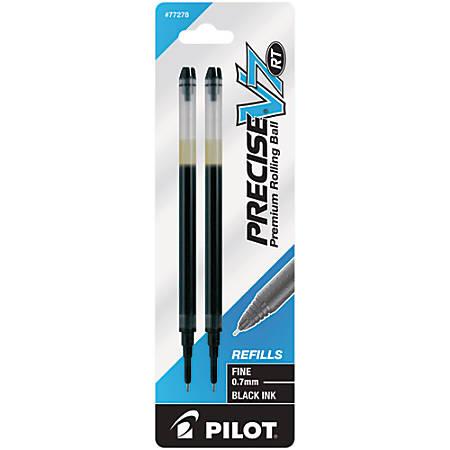 Pilot® Precise™ Liquid Ink Retractable Rollerball Refills, V7, 0.7 mm, Fine Point, Black, Pack Of 2
