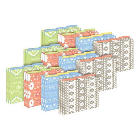 Barker Creek Tab File Folders, Letter Size, Thoughtfulness, Pack Of 36 Folders