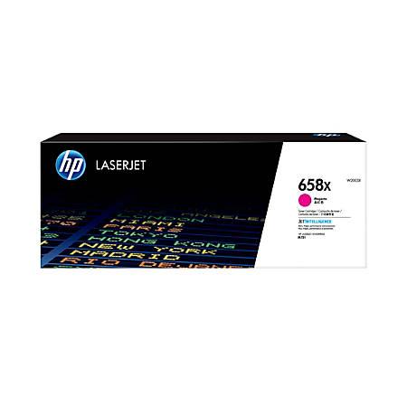HP 658X LaserJet High-Yield Toner Cartridge, Magenta (W2003X)