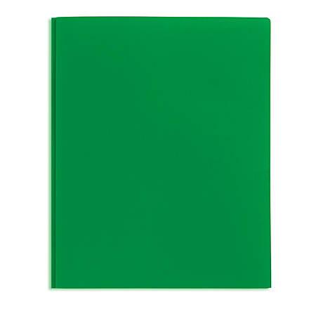 Office Depot® Brand School-Grade 3-Prong Poly Folder, Letter Size, Green