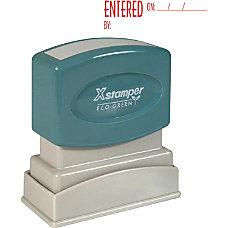 Xstamper Red Ink ENTERED Title Stamp