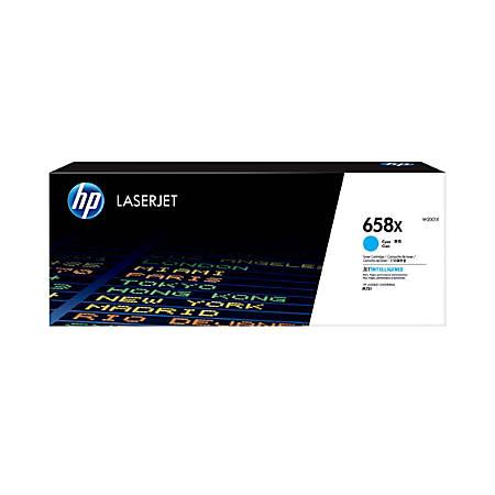 HP 658X LaserJet High-Yield Toner Cartridge, Cyan (W2001X)