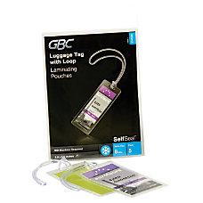 GBC SelfSeal Laminating Sheets Luggage Tags