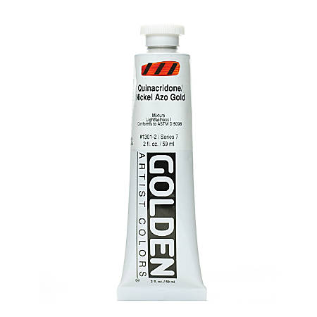 Golden Heavy Body Acrylic Paint, 2 Oz, Quinacridone Nickel Azo Gold