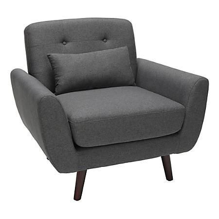 OFM 161 Collection Mid-Century Modern Tufted Accent Chair, Dark Gray