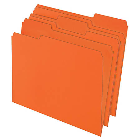 "Office Depot® Brand Color File Folders, 8 1/2"" x 11"", Letter Size, Orange, Pack Of 3 Folders"