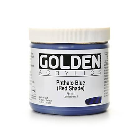 Golden Heavy Body Acrylic Paint, 16 Oz, Phthalo Blue/Red Shade