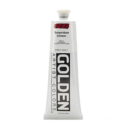 Golden Heavy Body Acrylic Paint, 5 Oz, Quinacridone Crimson