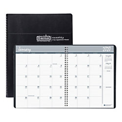 """House of Doolittle 24-Month Monthly Planner, 8-1/2"""" x 11"""", 100% Recycled, Black, January 2020 To December 2021, HOD2620"""