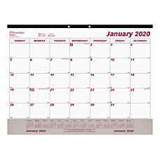 Brownline DailyMonthly Desk Calendar 17 x