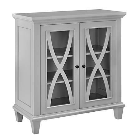 Ameriwood™ Home Ellington Double-Door Accent Cabinet, 3 Shelves, Gray