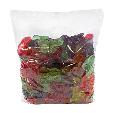 Albanese Confectionery Gummies, Large Gummy Butterflies, 5-Lb Bag