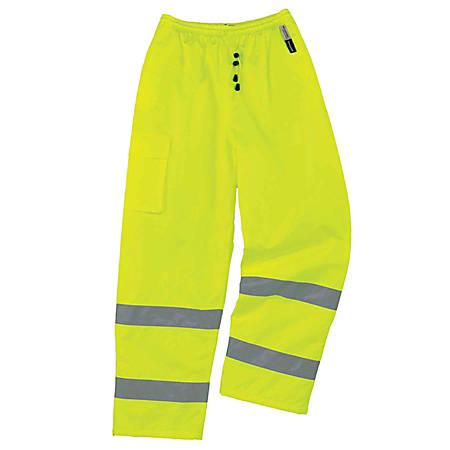 Ergodyne GloWear® 8925 Class E Polyester Thermal Pants, Large, Lime