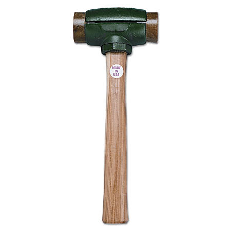 Split Head Hammers, 2 3/4 in Dia., 14 in Handle, Rawhide