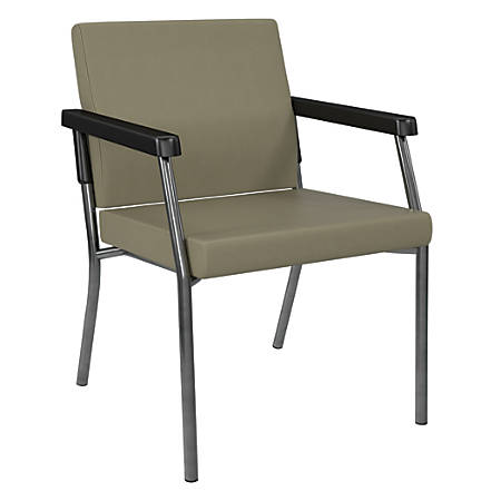Office Star® Bariatric Big & Tall Guest Chair, Sage/Gunmetal Gray