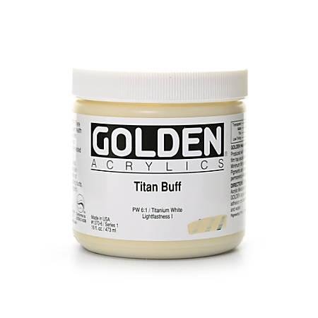 Golden Heavy Body Acrylic Paint, 16 Oz, Titanium Buff