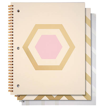 "Divoga® Spiral Notebook, Whimsical Wonder 2 Collection, 8 1/2"" x 10 1/2"", 1 Subject, College Ruled, 160 Pages (80 Sheets), Assorted Designs"