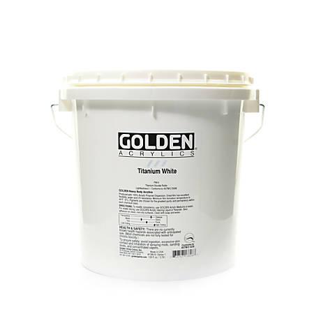 Golden Heavy Body Acrylic Paint, 128 Oz, Titanium White