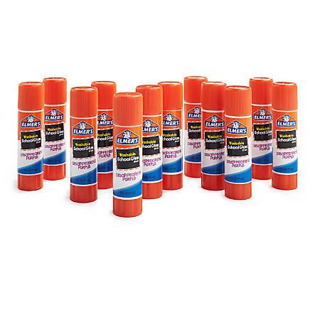 Elmer's® Disappearing Glue Sticks, 0.21 Oz, Purple, Pack Of 12