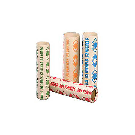 PM™ Company Coin Cartridges, Quarters, $10.00, Pack Of 1,000