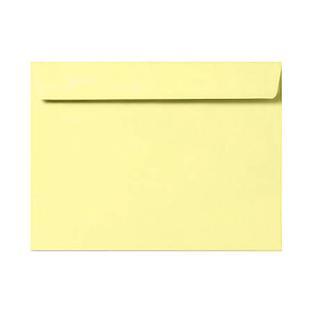 """LUX Booklet Envelopes With Moisture Closure, 6"""" x 9"""", Lemonade Yellow, Pack Of 50"""