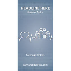 Custom Vertical Display Banner Family Health