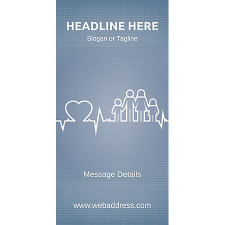 Custom Vertical Display Banner, Family Health
