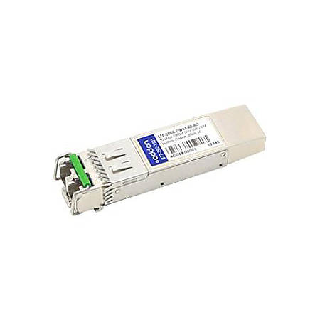 AddOn MSA and TAA Compliant 10GBase-DWDM 100GHz SFP+ Transceiver (SMF, 1542.94nm, 80km, LC, DOM)