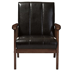 Baxton Studio Luisa Faux Leather Lounge