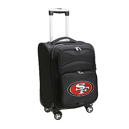"""Denco ABS Upright Rolling Carry-On Luggage, 21""""H x 13""""W x 9""""D, San Francisco 49ers, Black"""