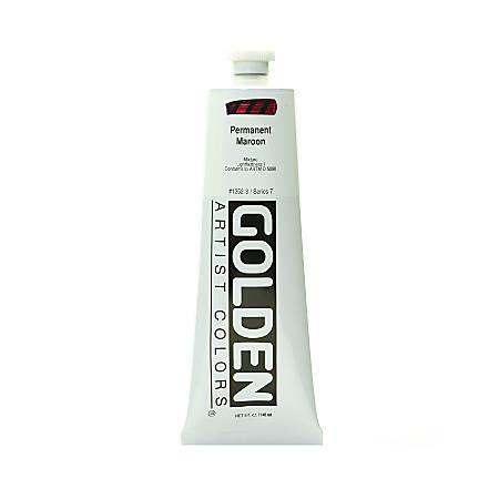 Golden Heavy Body Acrylic Paint, 5 Oz, Permanent Maroon