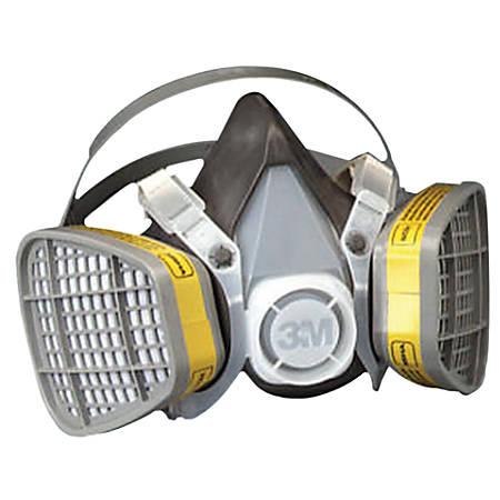 5000 Series Half Facepiece Respirators, Large, Organic Vapors/Acid Gases