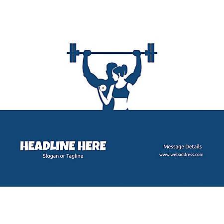 Adhesive Sign, Weight Lifting, Horizontal