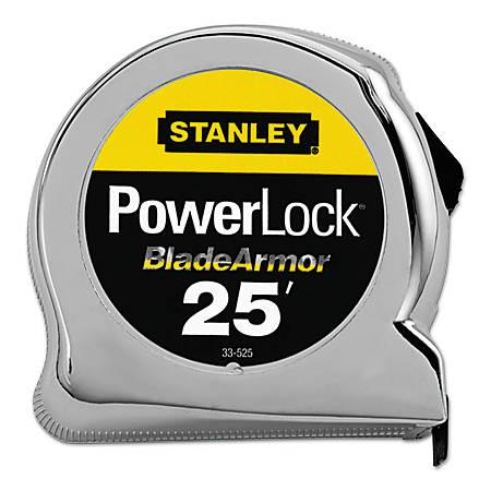 """Powerlock® Tape Rules 1"""" Wide Blade w/BladeArmor™, 1 in x 25 ft"""